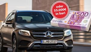 Traumauto oder 55.000 € gewinnen