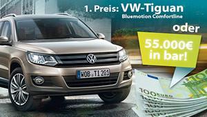 Jetzt Traumauto oder 55.000 € gewinnen!