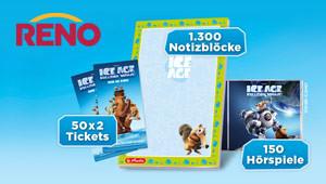 Reno verlost 1.500 Ice Age-Preise!