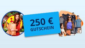 250 € Gutschein gewinnen