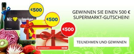 500 € Gutschein gewinnen