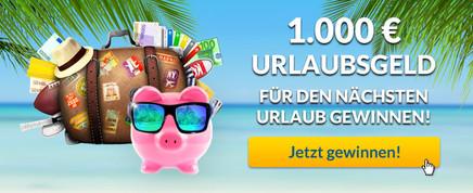 Gewinnen Sie 1.000 € in bar!
