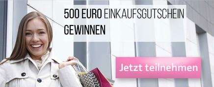 500 € Gutschein gewinnen.