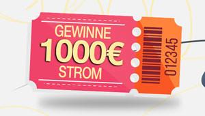 1.000 € für Strom gewinnen!