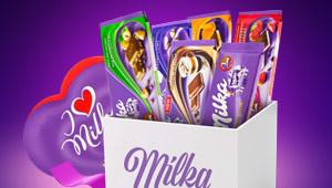 Milka Schoko-Paket gewinnen!
