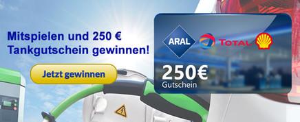 250 € Tankgutschein gewinnen.
